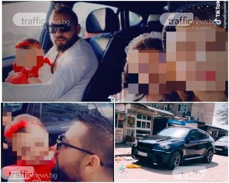 Неразумен баща от Пловдив вози бебе в скута си, две момиченца – на предна седалка без колан