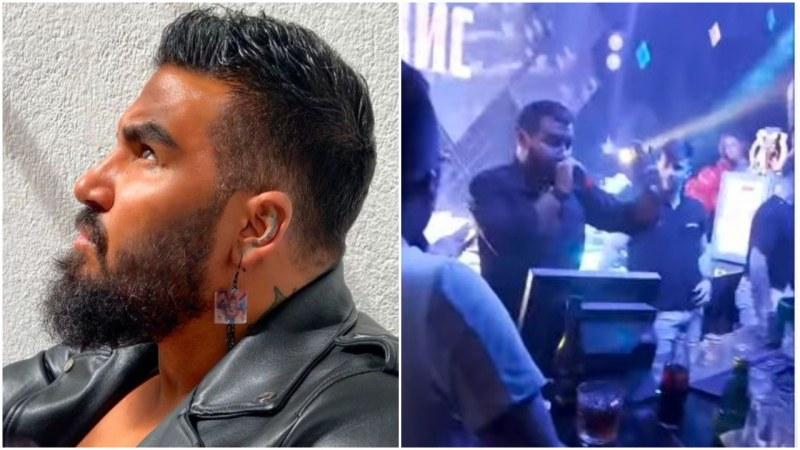 Азис стресна феновете си, падна от сцената по време на участие