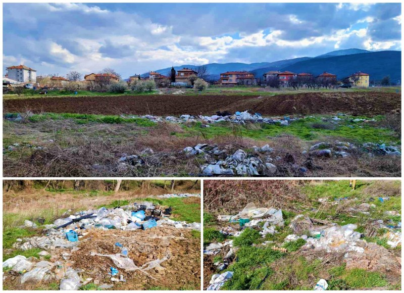 Поредната мизерия: Боклуци гният до обработваеми земи на село в Пловдивско