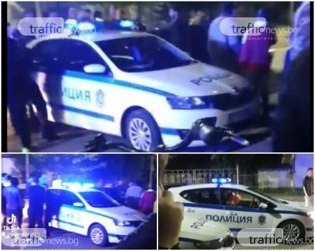 След гонка в Пловдив: Три коли се помляха на възлов булевард