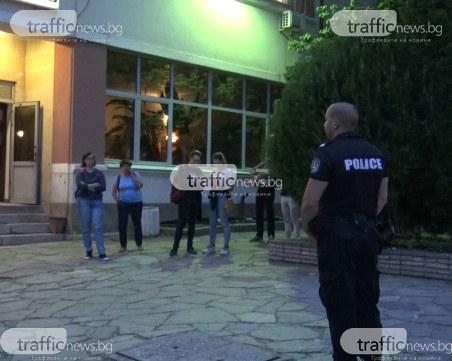 Скандал в центъра на Пловдив, полиция обсади сграда