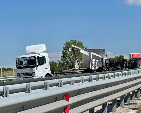 Затвориха магистралата към Пловдив заради тежкото ПТП с два тира