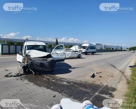 Двама души са в болница след катастрофа на Рогошко шосе