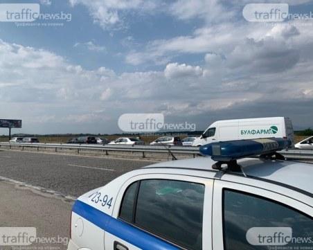 Катастрофа между няколко коли на АМ Тракия, дете е пострадало