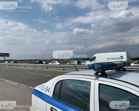 Пиян шофьор се заби в мантинела на АМ Тракия край Пловдив
