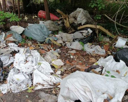 Разчистиха незаконно сметище на старото Асеновградско шосе