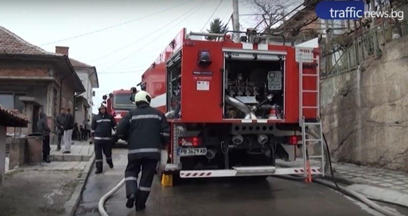 Пожар избухна в автосервиз в Баня