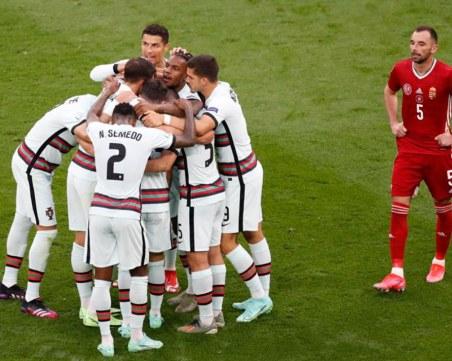 Португалия се развихри в последните минути и вкара три на Унгария