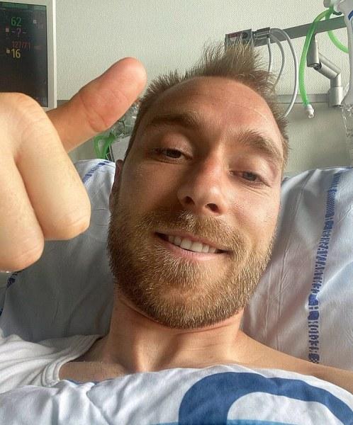 Кристиан Ериксен от болницата: Добре съм, благодаря за подкрепата