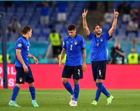 Италия стана първият осминафиналист на Евро 2020, скуадрата отново с класика
