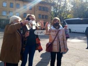 Жителите на Брестовица на протест пред Областна управа