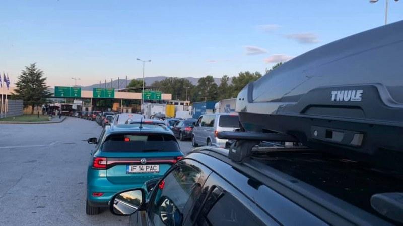 Зверска тапа на границата с Гърция, колите не мърдат