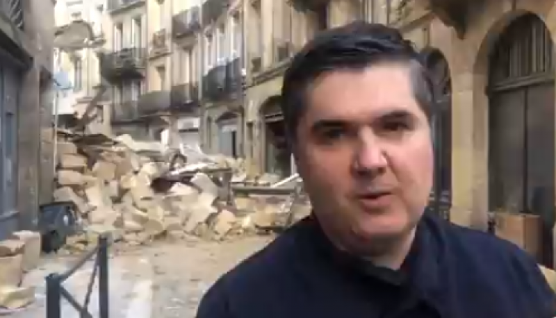 Трима души пострадаха при срутване на сграда в Бордо