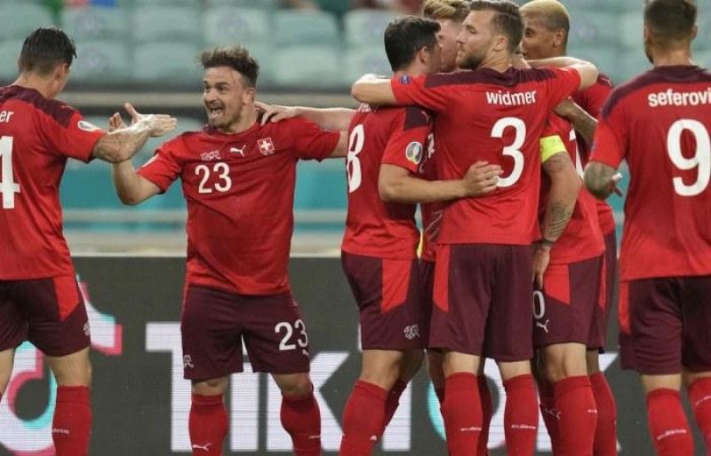 Швейцария стана първият отбор от чакащите на третото място, който си осигури класиране за осминафиналите на Евро 2020