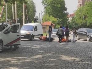 Блъснаха моторист на пловдивски прелез