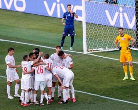 Испания се развихри в най-важния мач и продължава към осминафиналите на Евро 2020