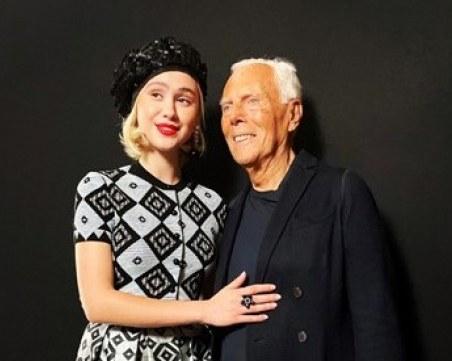 Мария Бакалова се срещна и снима с легендите Джоржо Армани и Ана Уинтур