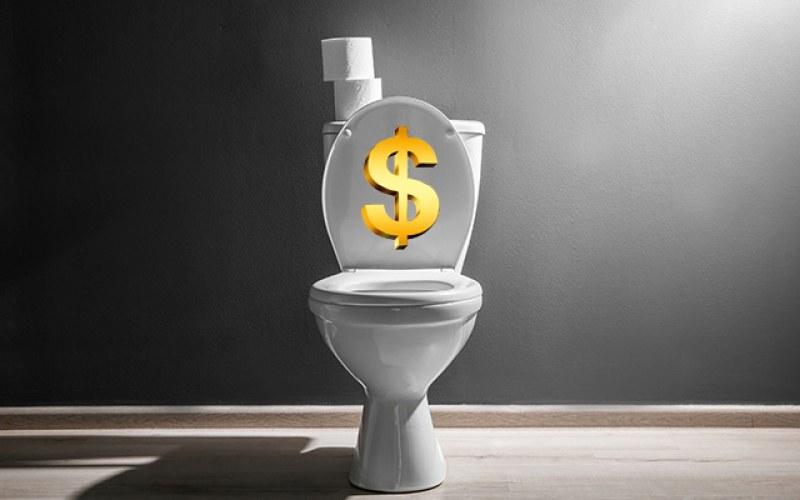 Как да превърнете 00 в кеш: Тоалетна плаща пари на този, който я ползва