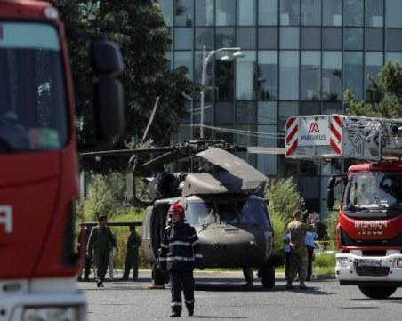 Американски боен хеликоптер кацна ненадейно в центъра на Букурещ