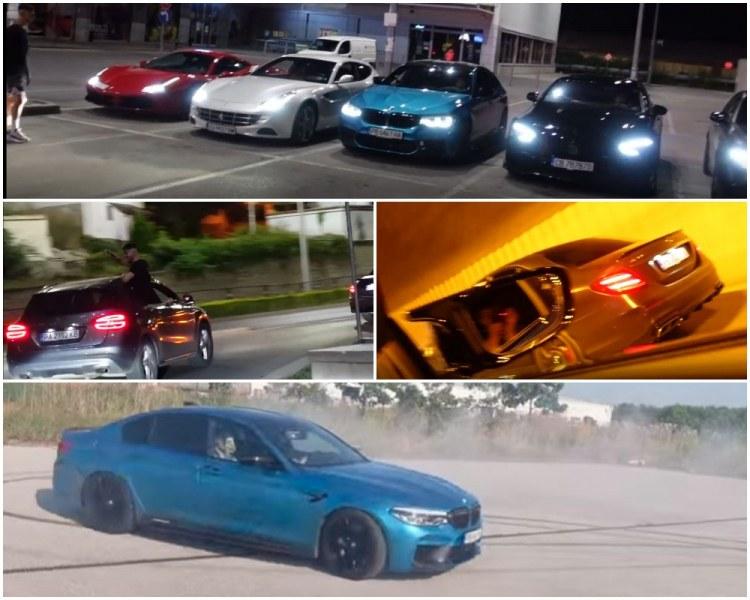 """Гонки и екстремни изпълнения: Влогъри с мощни коли превърнаха  Пловдив в писта от """"Бързи и яростни"""""""