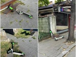 Изпочупени електрически тротинетки по улиците в Пловдив, заради пари или чист вандализъм?