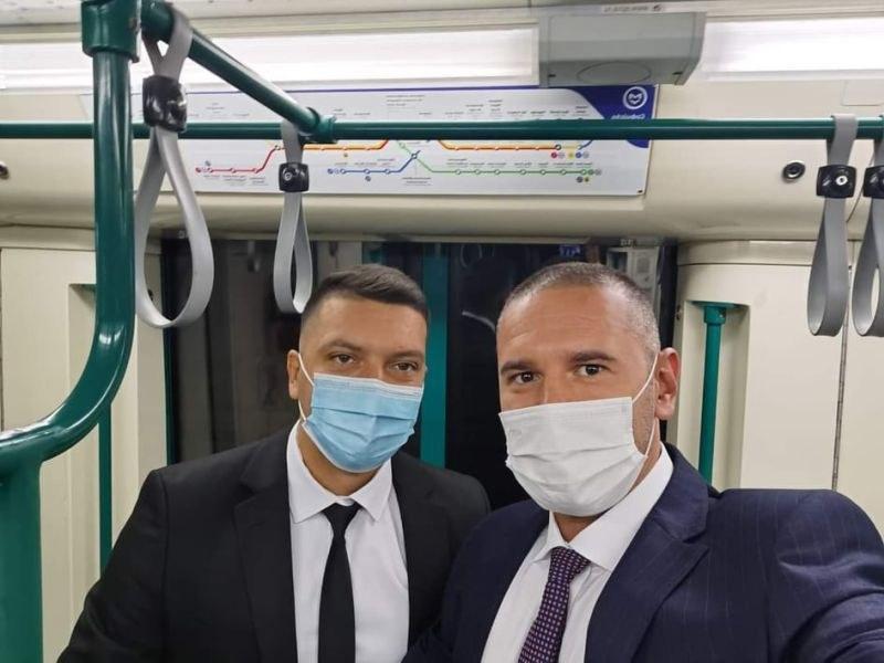 Новите пловдивски депутати от ГЕРБ се качиха на метрото за дебюта в парламента