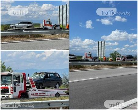 Магистралата вече е проходима, изтеглиха колите от мелето край Пловдив