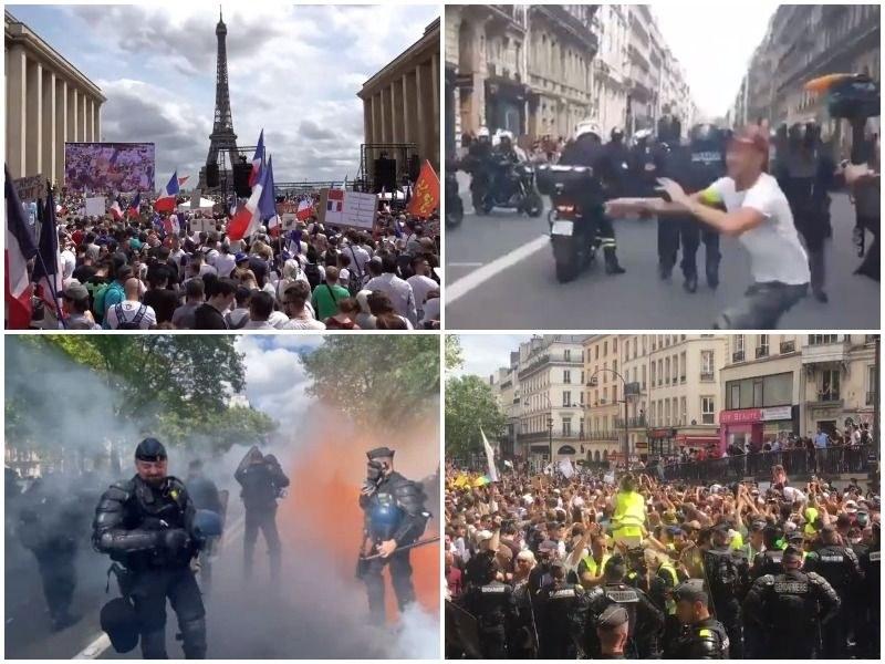 Безредици във Франция -  хиляди скочиха срещу здравните сертификати