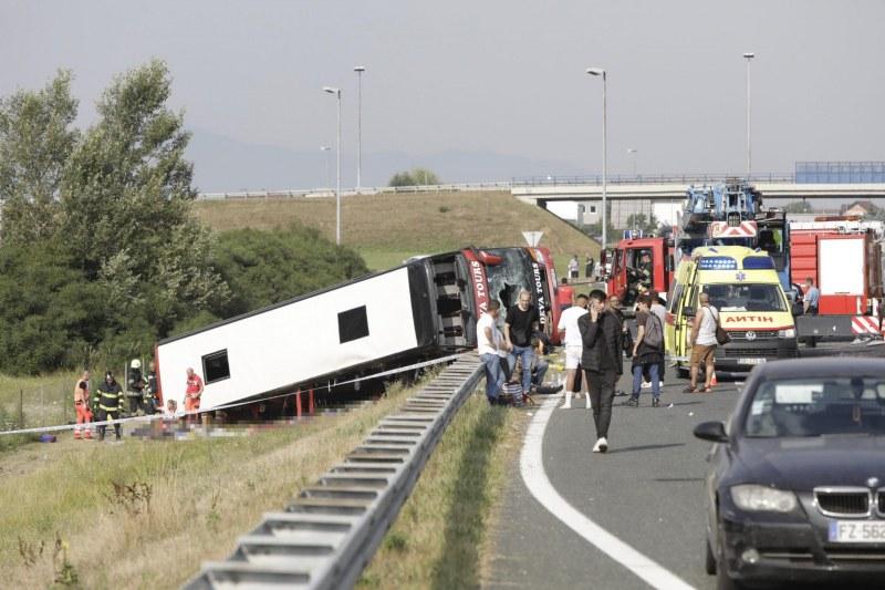 Десет загинали и над 30 ранени при тежка катастрофа в Хърватия