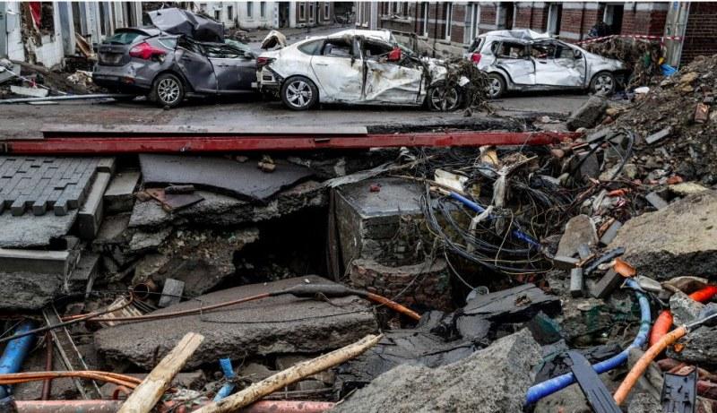 Отново потоп в Белгия – буря връхлетя страната и нанесе сериозни щети