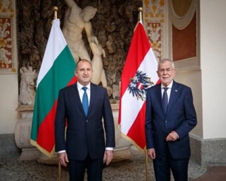 Радев в Австрия: Няма да допуснем Скопие да нарушава правата на хората с българско самосъзнание