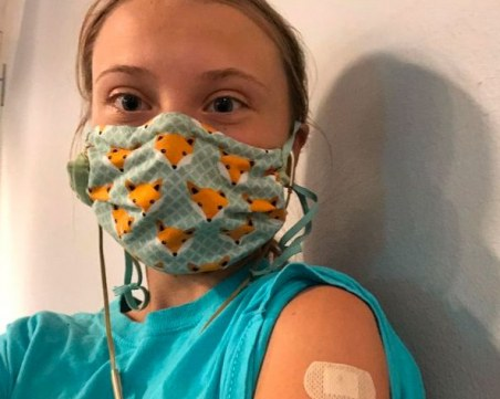 Грета Тунберг се ваксинира срещу COVID-19