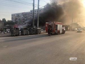 Пожарната на крак! Пламна незаконно сметище в Столипиново