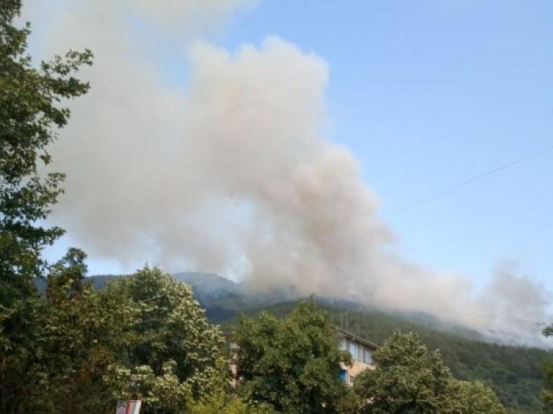 Пожарът край Твърдица вече е под контрол