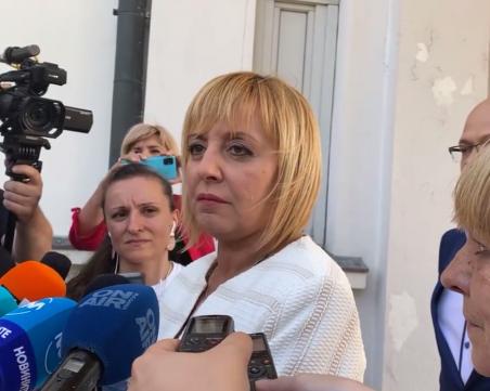 Манолова: Ще вземем крайно решение за кабинета, след като чуем имената на министрите