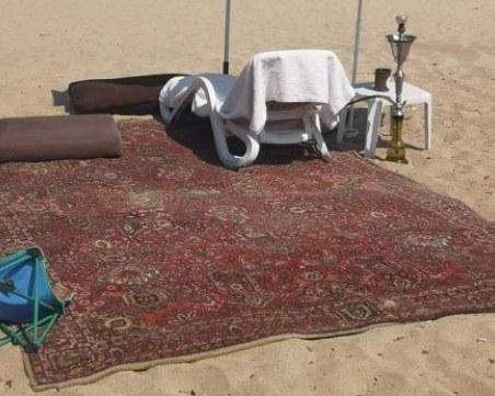 Слънчака ми е Дубай! Аладин е дошъл да посети плажа