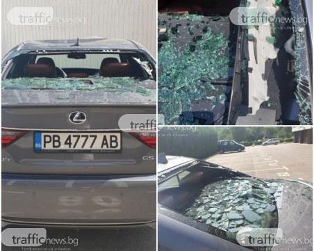 Вандализъм в Пловдив: Деца хвърлят балони с вода от 8 етаж, изпотрошиха автомобил