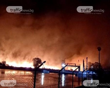 Пожарът край Стамболийски се разраства