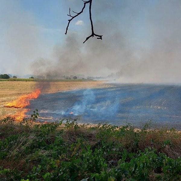 Отново пожар между Кадиево и Оризаре, доброволци и пожарникари са на място