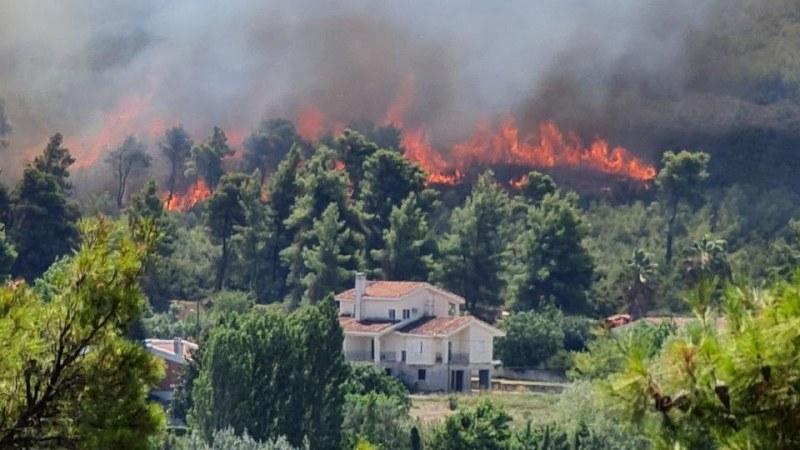Огромният пожар в Атина се разраства, хиляди са евакуирани