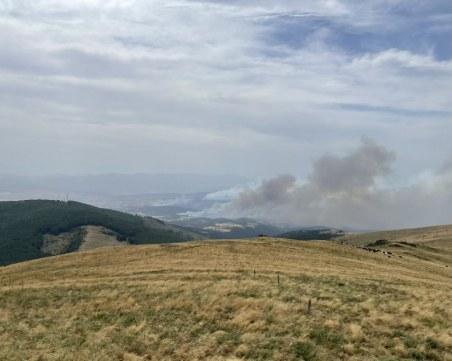 Пожарът в Северна Македония е на 100 метра от границата с България