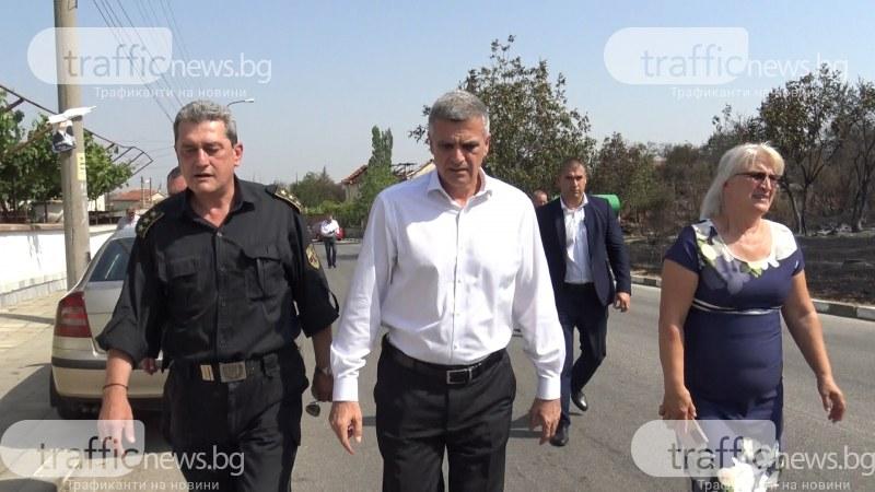 Стефан Янев пристигна в Старосел, призова хората да бъдат бдителни