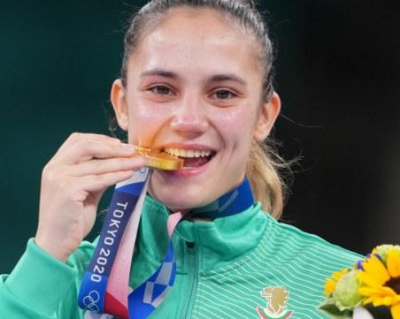 Посрещнаха олимпийската шампионка Ивет Горанова в Долна Митрополия