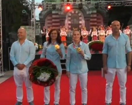 В Плевен посрещнаха олимпийските шампионки Ивет Горанова и Стойка Кръстева