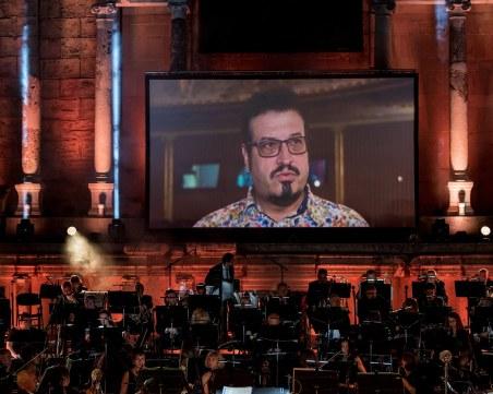 Притихнал Aнтичен театър почете Kамен Чанев и аплодира началото на конкурс на негово име
