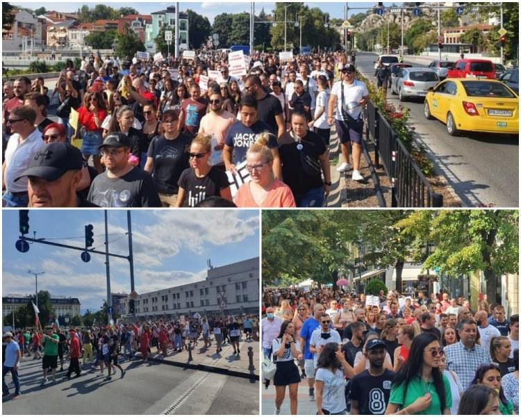 Близо 3 000 пловдивчани протестират срещу мерките , блокираха