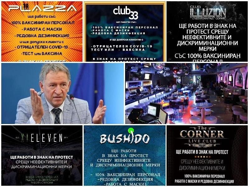 Нощните клубове в България въстанаха срещу заповедта на Кацаров – ще работят въпреки нея!