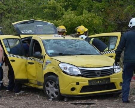 Таксиметров шофьор загина при катастрофа до Хасково