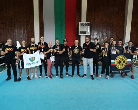 Пловдивски клуб с 11 медала на държавното по кикбокс и муай тай в Каварна