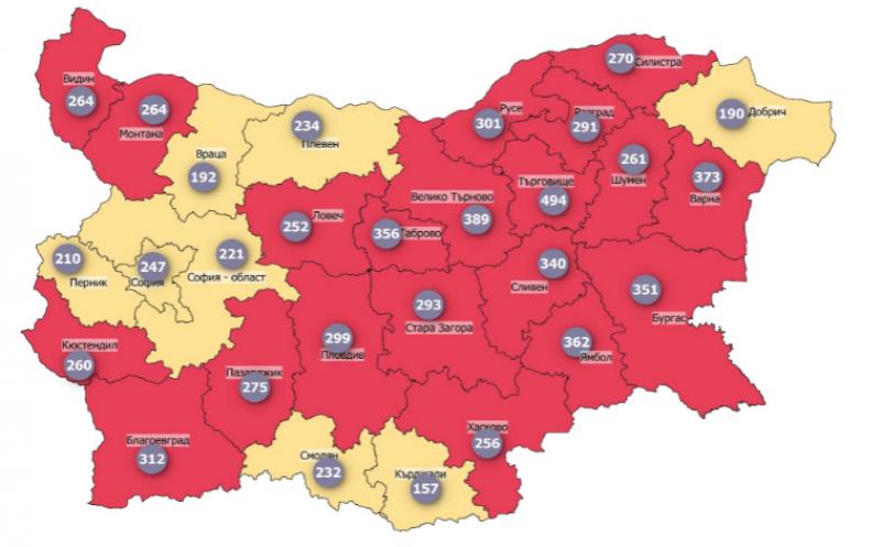 София излезе от червената COVID зона, заболеваемостта у нас продължава да спада